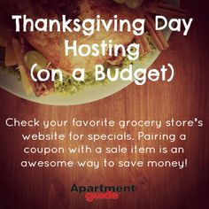 If you're hosting Thanksgiving this year, plan a fabulous feast with these budget-friendly tips. Thanksgiving This Year, Hosting Thanksgiving, Cooking On A Budget, Grocery Store, Holiday Ideas, Saving Money, Coupons, Budgeting, Meals
