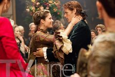 Outlander Photo Season 2 Annalise Jamie Fraser (Sam Heughan) | Outlander First Look: Um, Who's That Woman With Her Hands on Jamie?