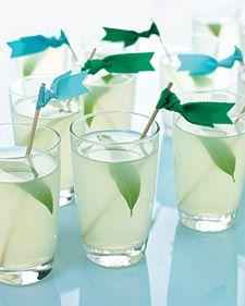Pear-Lemon Fizz ice cubes ½ oz pear vodka ¾ oz lemon simple syrup ½ oz fresh lemon juice champagne 1 fresh verbena leaf, for garnish Fill a cocktail shaker with ice. Add vodka, syrup, and lemon juice. Cocktails Vin, Cocktail Drinks, Cocktail Recipes, Party Drinks, Spring Cocktails, Drink Recipes, Tea Party, Pear Recipes, Champagne Cocktail