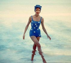 Cuba beach fashions, 1955. Photo by Gordon Parks.
