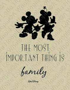 My two favorite things - Family and Disney