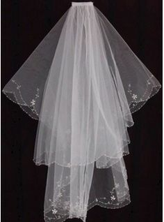 Wedding Veils - $16.99 - Two-tier Fingertip Bridal Veils With Finished Edge  http://www.dressfirst.com/Two-Tier-Fingertip-Bridal-Veils-With-Finished-Edge-006035469-g35469