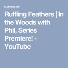 Ruffling Feathers | In the Woods with Phil, Series Premiere! - YouTube