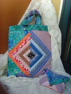 布张扬手作小木屋拼布背包,拼布作品欣赏,拼布网