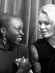 Danai Gurira & Laurie Holden Laurie Holden, Abraham Ford, Talking To The Dead, Dead Inside, Fear The Walking Dead, Dark Places, Best Shows Ever, Good People, Phoenix