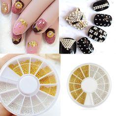 Nail supplies DIY 3d nail art Decoration mixed acrylic diy nail art wheel tools drill shiny diamond jewelry M01789