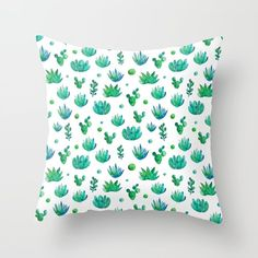 Watercolor Succulents Throw Pillow by annaalexeeva Watercolor Succulents, Colorful Pillows, Cactus, Throw Pillows, Abstract, Lady, Pretty, Products, Succulents