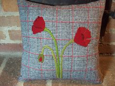 Simply Poppies Pillow Slipcover by rustiquecat on Etsy, $32.00