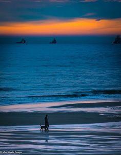 New Year Sunrise at Balmedie Beach, Aberdeen, Scotland.