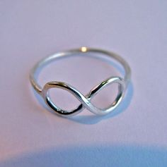 Infinity ring sterling silver LOVE by Hellomyflower on Etsy, $16.99