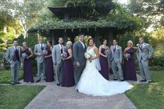 grey wedding color schemes | purple and gray wedding colors | Heather Marshall ... | A Girl Can Dr ...