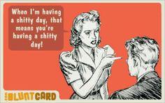 My kind of attitude! Lol