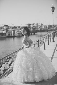 Quinceanera | Flickr - Photo Sharing! #dress #crystal #tulle #teal #beauty