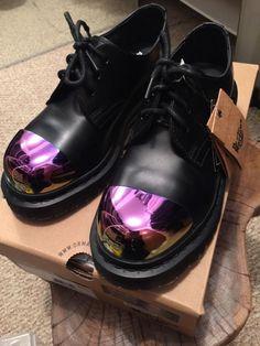 Dr. Doc Martens Grip External Steel Toe Shoes  Pink US Size 7.5 8 8.5 UK5 New #DrMartens #Oxford
