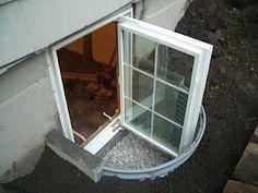 Cool Home Creations: Finishing the Basement: Enlarging Window