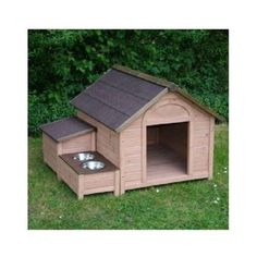 Wooden-Dog-Kennel-Outdoor-Dogs-Kennels-Storage-Food-Bowls-Patio-House-Pet-Houses