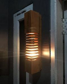 simple wall wooden lights
