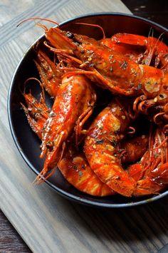Grilled Thai Red Curry Shrimp | Always Order Dessert