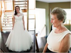 Lauren's Grandmother seeing her in her dress for the first time on her wedding day  Lauren & Will // Married at the Duportail House