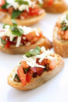 Bruschetta-- @Martha Davolt said she made this recipe tonight, and that it received rave reviews! I'm definitely trying it!