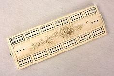 Antique Japanese Ivory Cribbage Board