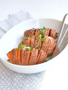 Hasselback van zoete aardappel - Uit Pauline's Keuken - Voedselzandloper proof
