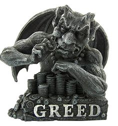 The Seven Deadly Sins 6 Inch Cold Cast Resin Gargoyle Statue - Greed