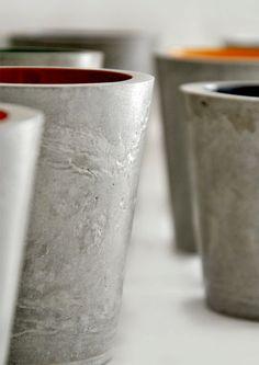 Portalapices de hormigón cemento concreto. Vaso de por MicaRicaShop #concrete #concreto #cemento