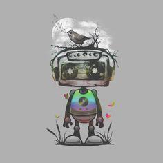 musical robot t shirt design