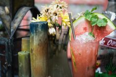 El Vato Swizzle cocktail recipe: Photo: Daniel Krieger |  blanco tequila, watermelon juice, chile-infused agave syrup, lime juice, cilantro