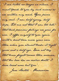 The Letter. Persuasion, J. By Captain Wentworth. Papel Vintage, Vintage Paper, Vintage Writing Paper, Handwritten Letters, Cursive, Newspaper Art, Jane Austen Books, Old Letters, Printable Letters