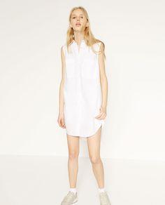 изображение 1 из LONG POPLIN SHIRT от Zara