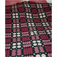 """Antique Tapestry Blanket Welsh Wool Size 76"""" X 78"""" Approx Listing in the Quilts,Fabric & Textiles,Antiques Category on eBid United Kingdom"""