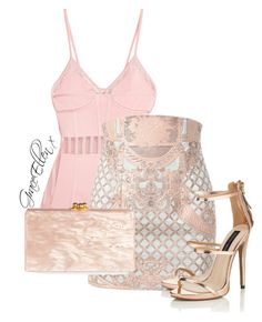 Untitled #109 by miss-grace-ellen on Polyvore featuring polyvore fashion style Balmain Lipsy Edie Parker clothing