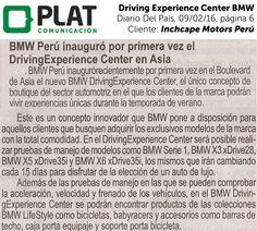 Inchcape Motors: Nuevo Driving Experience Center en Asia en el diario del País de Perú (09/02/16)