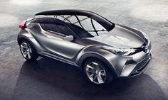 Концепт кроссовера Toyota CH-R / Тойота CH-R – вид спереди сверху