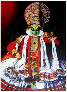Kathakali painting. A mind blowing art piece!