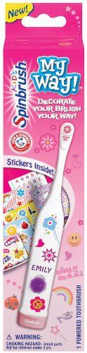 Practical gifts that every child will love! Create your own toothbrushing fun! Get one in store.