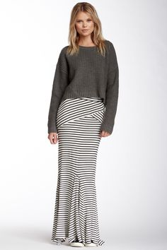 Fraiche By J | Striped Maxi Skirt