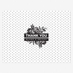 High Contrast Thank you card / Love vs Design
