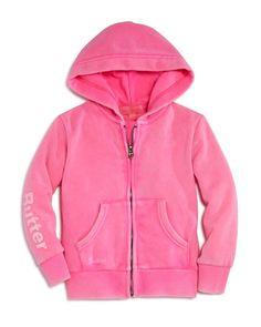 Butter Girls' Sugar Rush Embellished Fleece Hoodie - Sizes 4-6