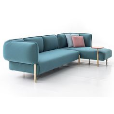 Patricia Urquiola upholsters modular sofa for Moroso in jersey fabric ❤ liked on…