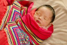 Great idea for newborn Hmong babies