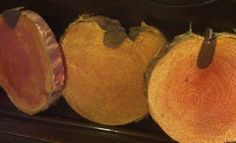 Set of 3 Handpainted Pumpkin Wood Slice by VickiAnnCreations, $9.00