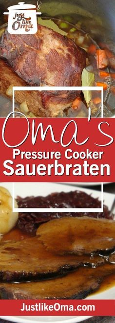 Make Oma's German Sauerbraten in an Instant Pot pressure cooker & have this traditional German dinner on your table in 2 hours rather than 5 days! And, it's WUNDERBAR!