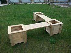 Bench seat with Planters - L shape