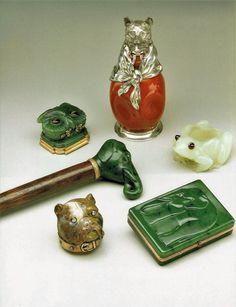Faberge Big Bad Wolf Lighter Ashtray Cane by ThePreciousPast