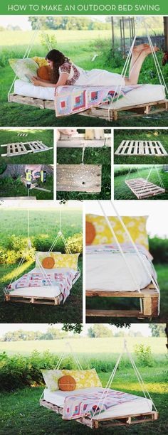 DIY Pallet Swing Bed Pictures, Photos, and Images for Facebook, Tumblr, Pinterest, and Twitter