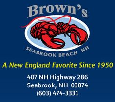 Brown's Lobster Pound - Lobster, Seafood restaurant - Seabrook NH & Hampton NH Hampton Beach Nh, York Beach Maine, Us Vacation Spots, Rockingham County, Granite State, New England States, All Things New, Martha's Vineyard, Travel