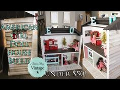 How to build an American Girl Doll house out of pallets/under $50! - YouTube